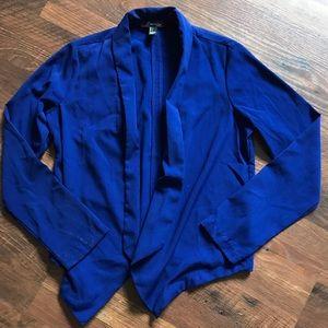 Forever 21 Thin Blue Open Blazer